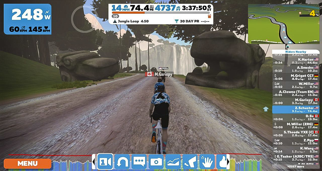 Zwift made long winter rides less worse. Zwift review.