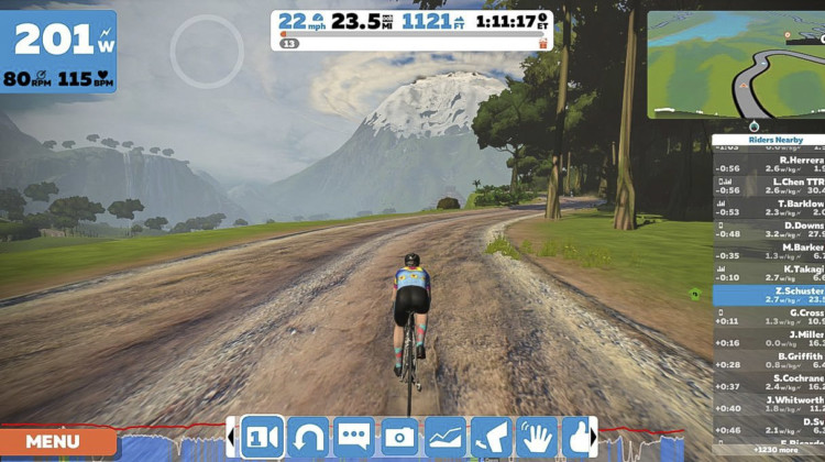 Zwift even has some gravel! Zwift review.