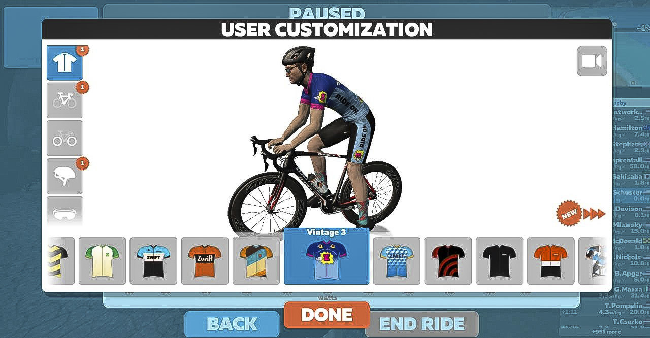 Zwift allows you to personalize your virtual self with kits, socks, bikes, wheels and more. Zwift review.
