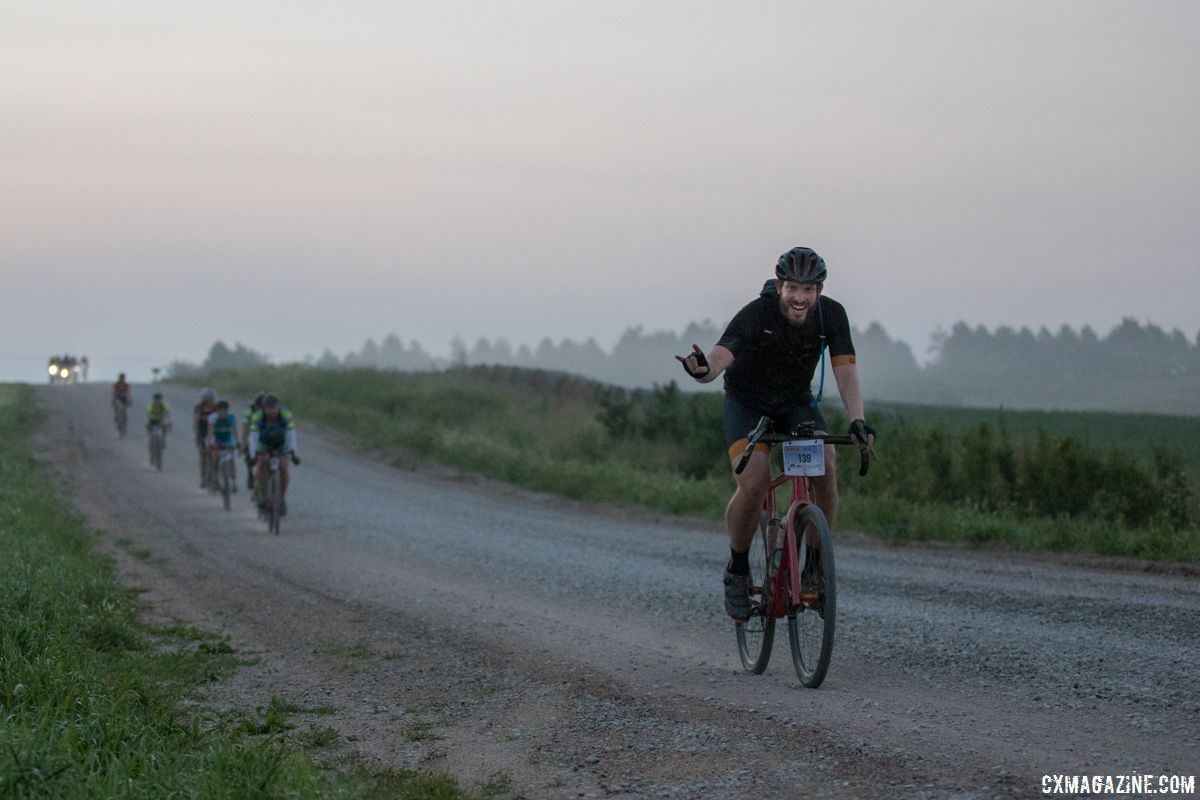 The stoke in Nebraska was high, at least early in the race. 2018 Gravel Worlds © Robert Clark / Cyclocross Magazine