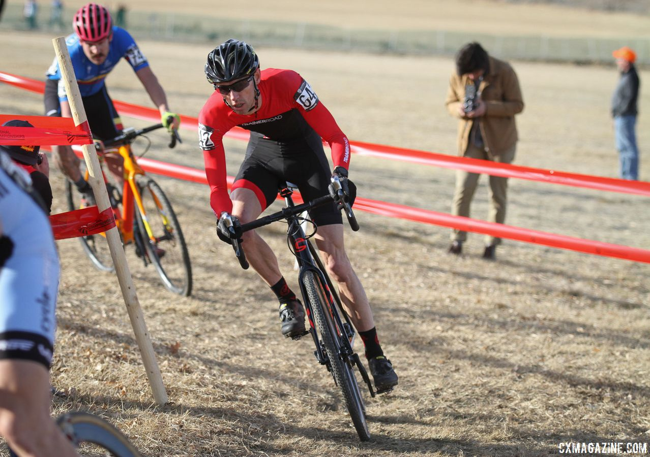 Justin Thomas took advantage of a work sabbatical to travel the U.S. racing cyclocross to prepare for Reno Nationals. 2018 Reno Cyclocross Nationals. © D. Mable / Cyclocross Magazine