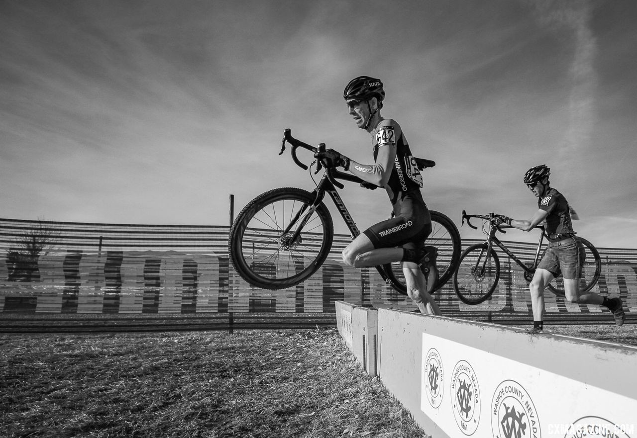 Thomas got to work on his skills and racing before heading to Reno Nationals in his hometown. 2018 Reno Cyclocross Nationals. © D. Mable / Cyclocross Magazine