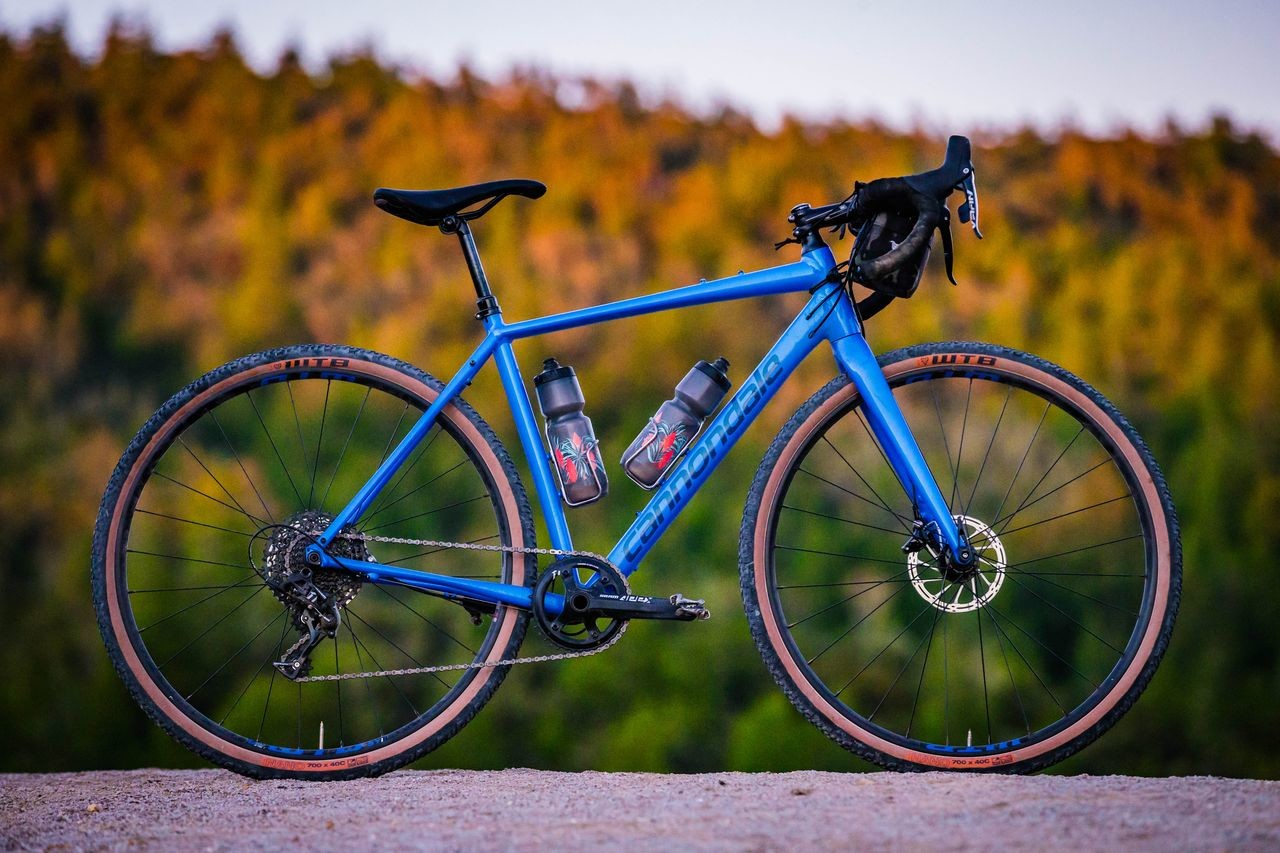 The Topstone is Cannondale's newest gravel bike. The Apex 1 model is shown here.