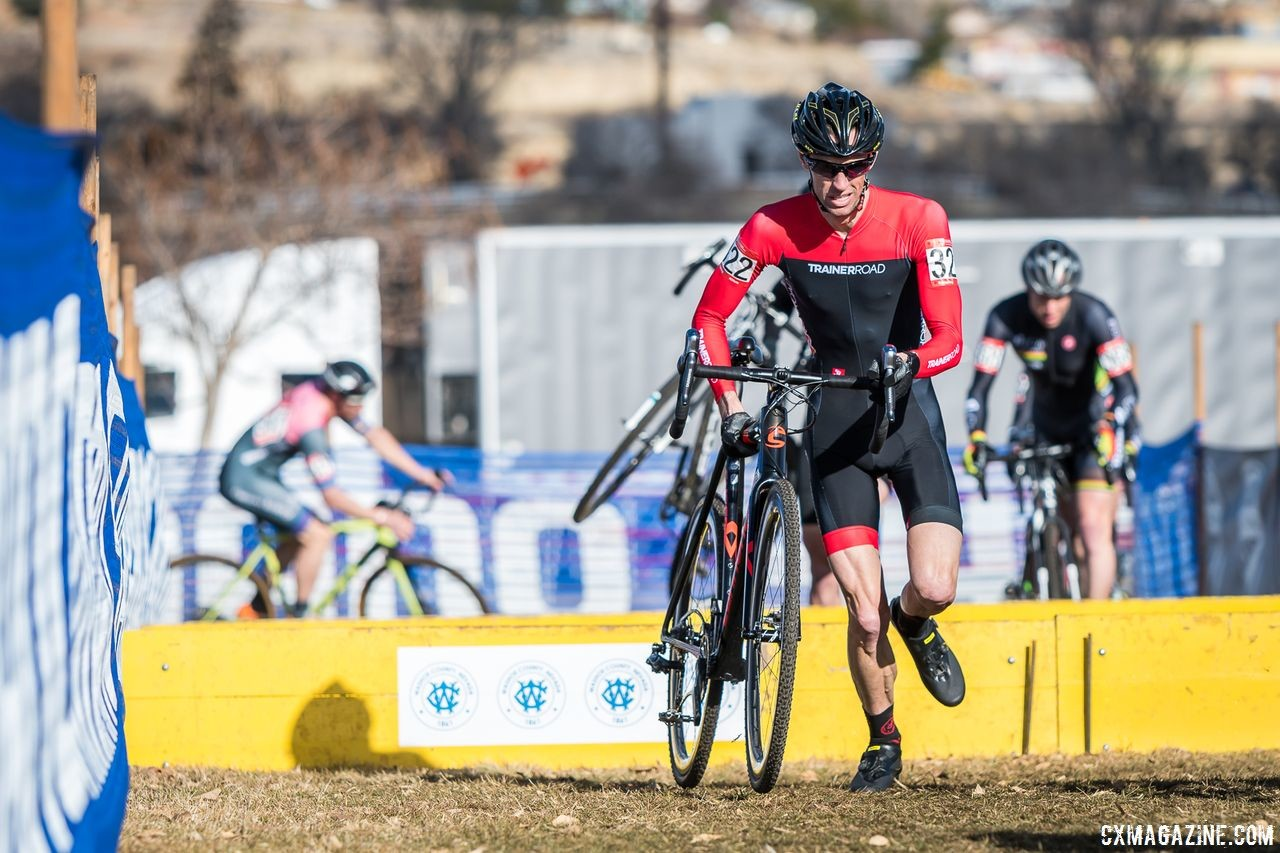 "Justin Thomas' co-workers and friends got to see him do his ""nutty"" hobby in Reno. 2018 Reno Cyclocross Nationals. © J. Vander Stucken / Cyclocross Magazine"