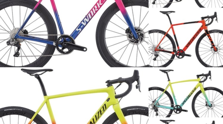 The 2019 Specialized CruX carbon and alloy cyclocross line.