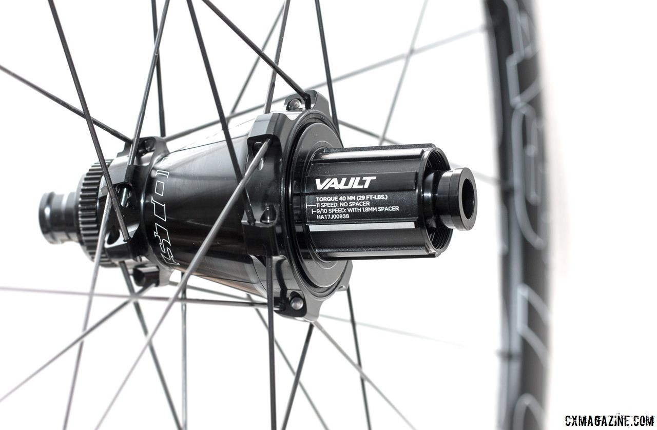 The new EA90 SL wheelset comes with Easton's Vault hub, which the company claims has increased durability. Easton EA90 SL alloy tubeless disc wheels. © Cyclocross Magazine
