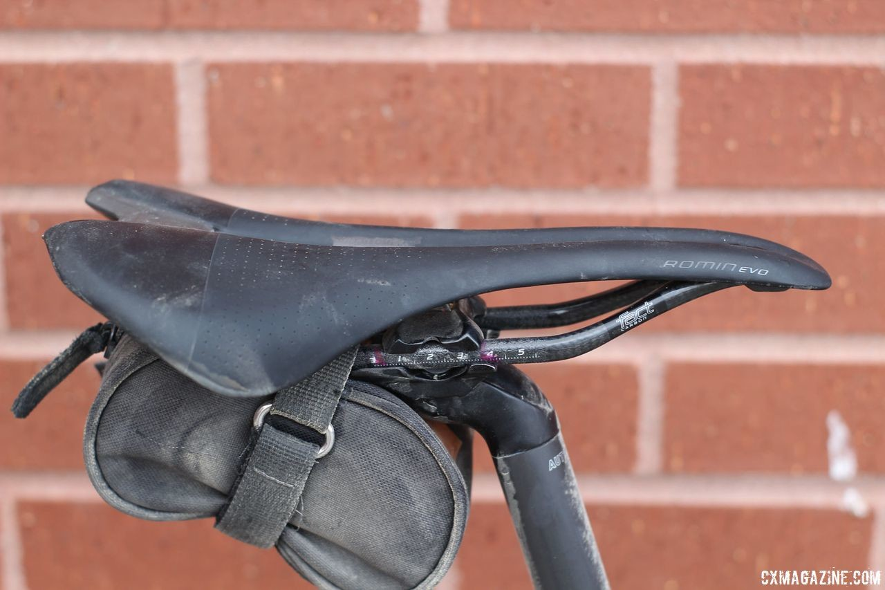 Berry switched brands and used a Specialized Romin Evo saddle. Josh Berry's 2018 Gravel Worlds Giant Revolt Advanced 0 Gravel Bike. © Z. Schuster / Cyclocross Magazine