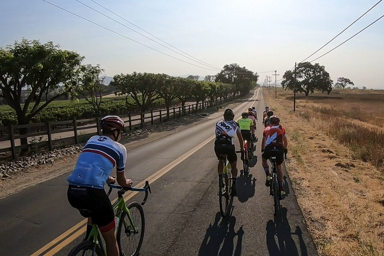 The young athletes got to go on a longer endurance ride together. Santa Ynez USAC Talent ID Camp. © Amanda Nauman