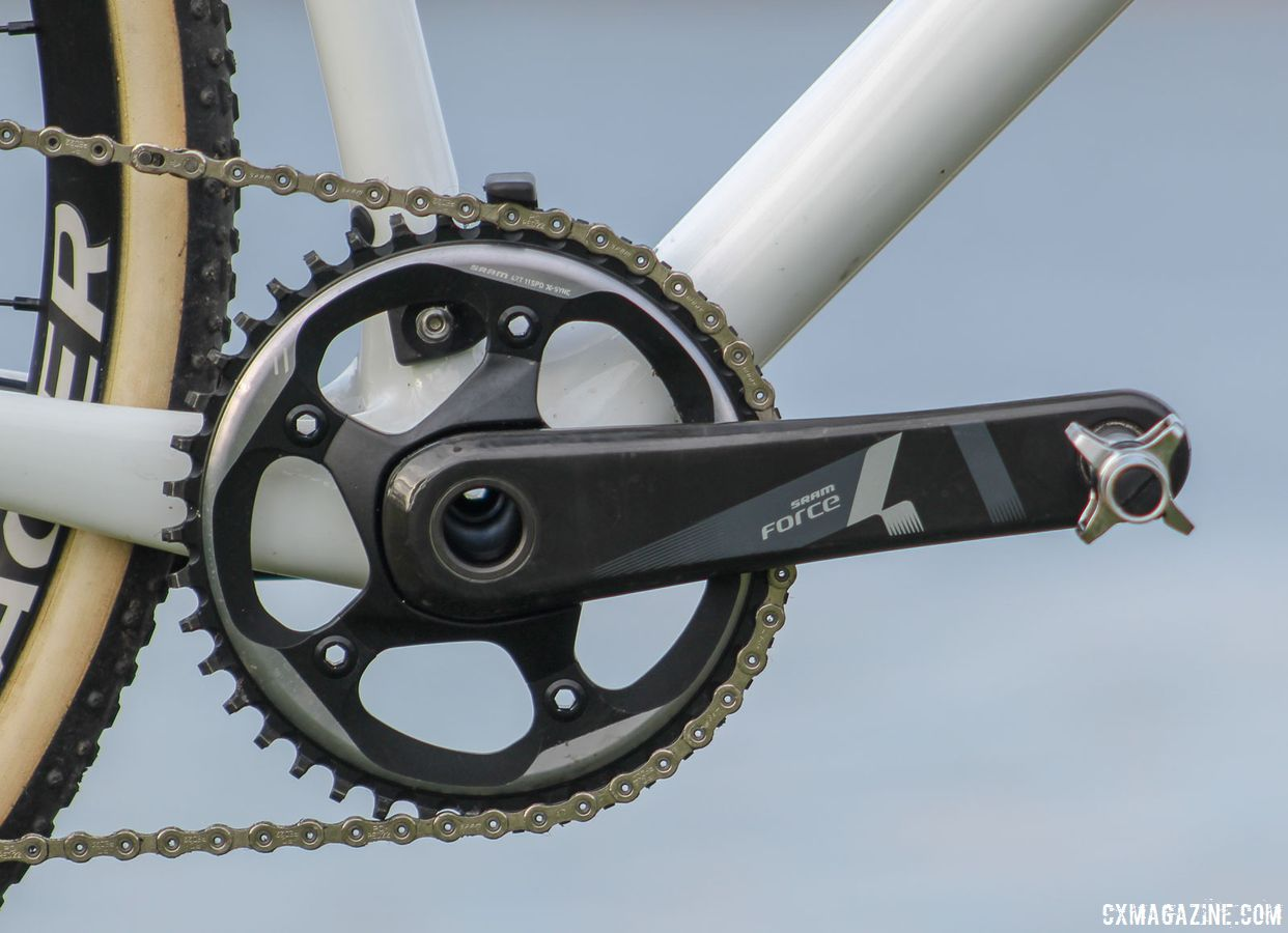 Trek designed the Boone RSL frame for use with 1x cranksets. Our bike had a SRAM Force 1 drivetrain. Trek Boone RSL Cyclocross Frameset and Bike. © Z. Schuster / Cyclocross Magazine
