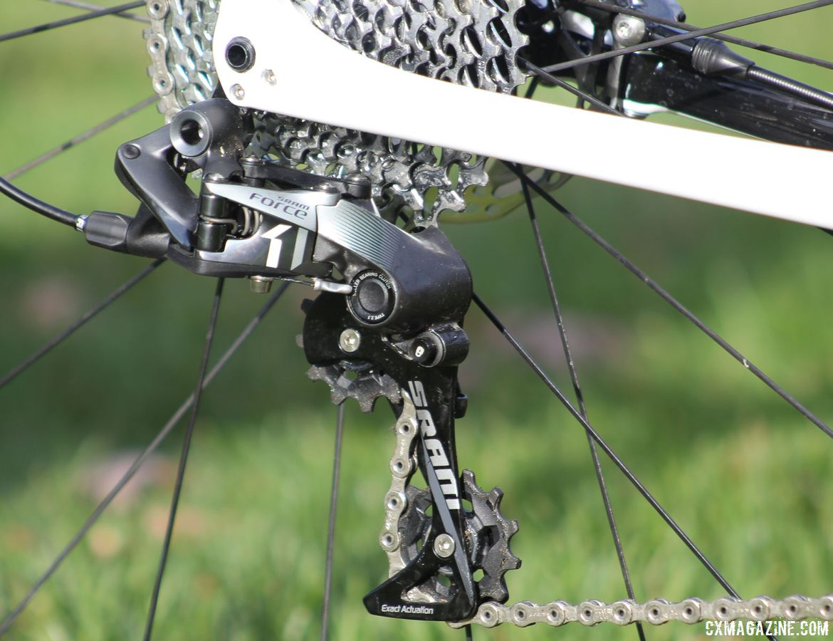 Our review bike came with a SRAM Force 1 drivetrain with an 11-36t rear cassette. Trek Boone RSL Cyclocross Frameset and Bike. © Z. Schuster / Cyclocross Magazine