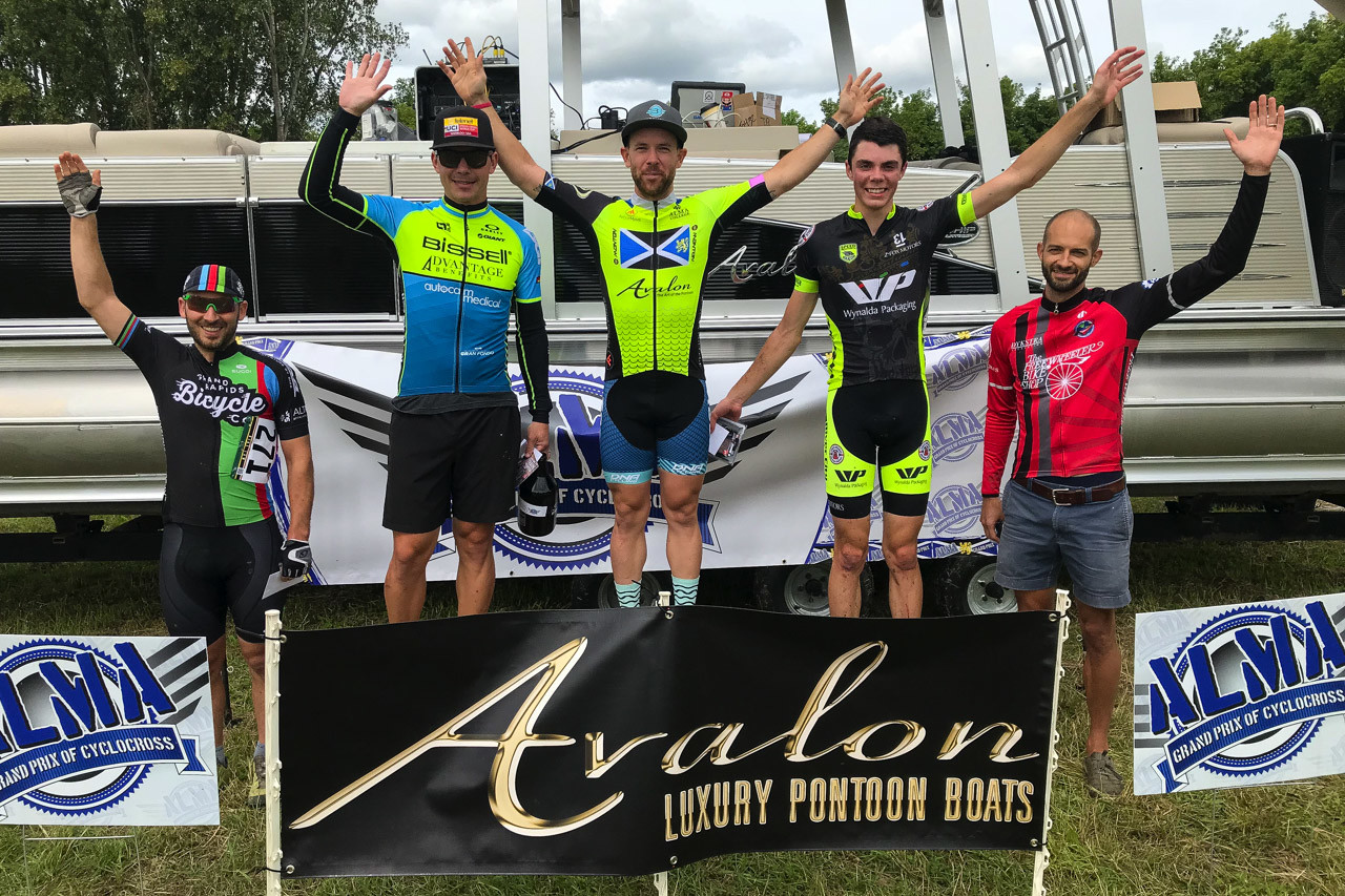 Men's podium. 2018 Alma GP in Michigan. photo: Brian Hancock