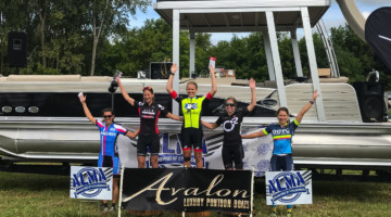 Women's podium. 2018 Alma GP in Michigan. photo: Brian Hancock