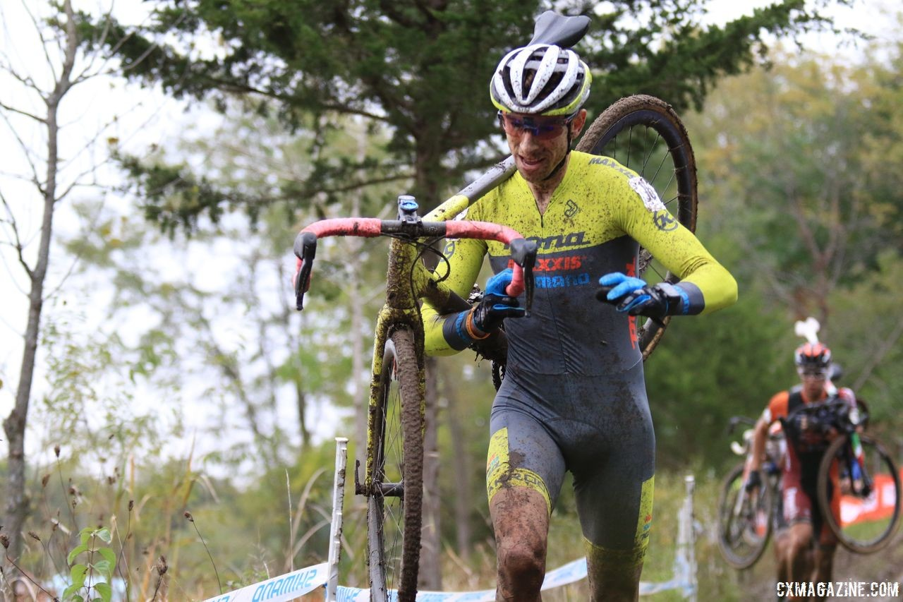 Kerry Werner took a flier in Lap 5. 2018 Jingle Cross Day 3, Sunday. © D. Mable / Cyclocross Magazine