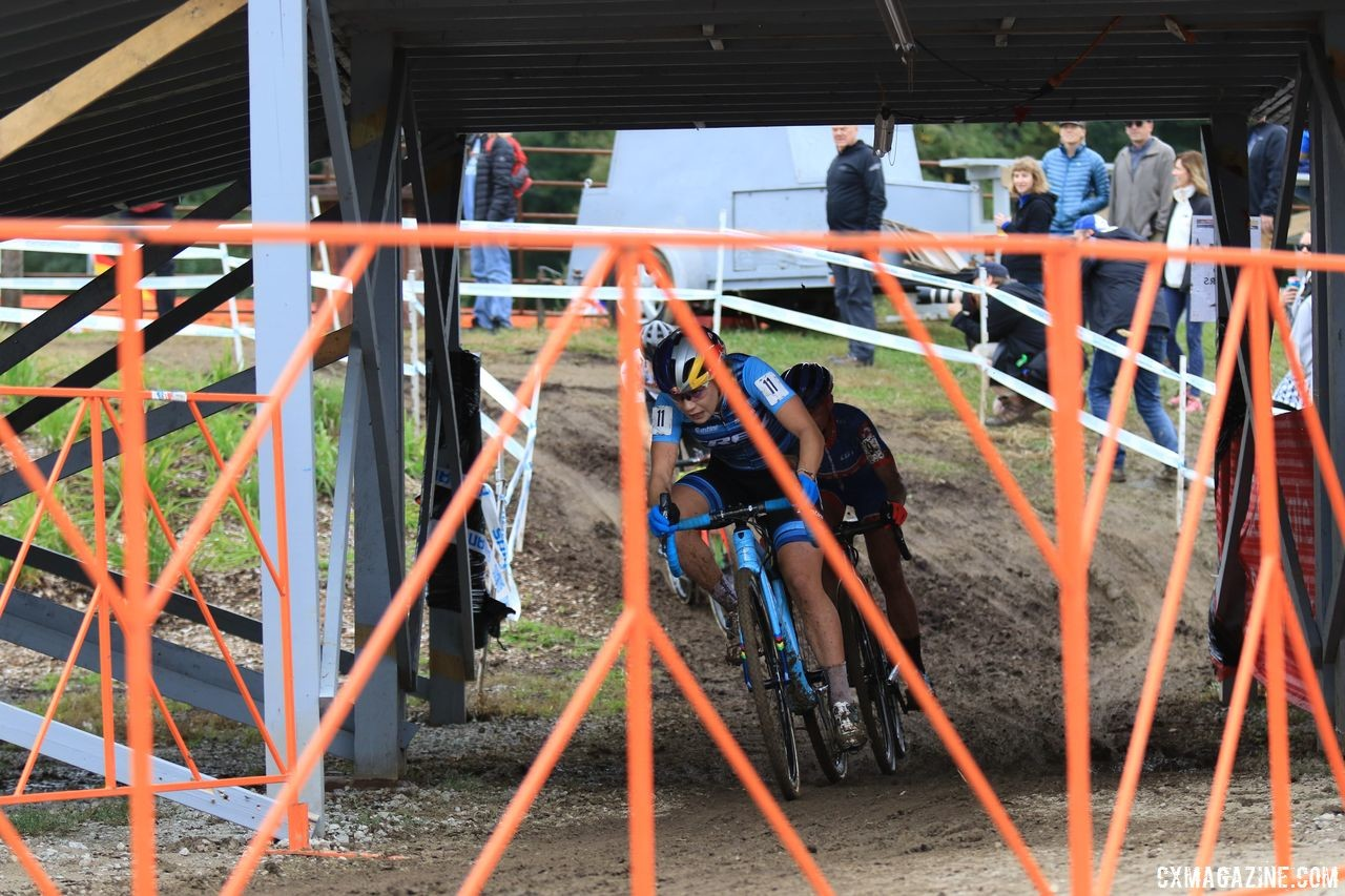 Evie Richards led the first descent off Mt. Krumpit. 2018 Jingle Cross Day 3, Sunday. © D. Mable / Cyclocross Magazine