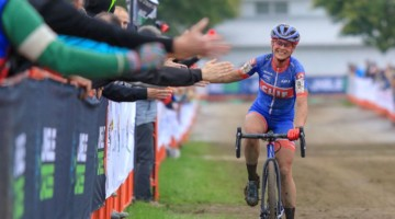 Katerina Nash wins 2018 Jingle Cross Day 3. © D. Mable / Cyclocross Magazine