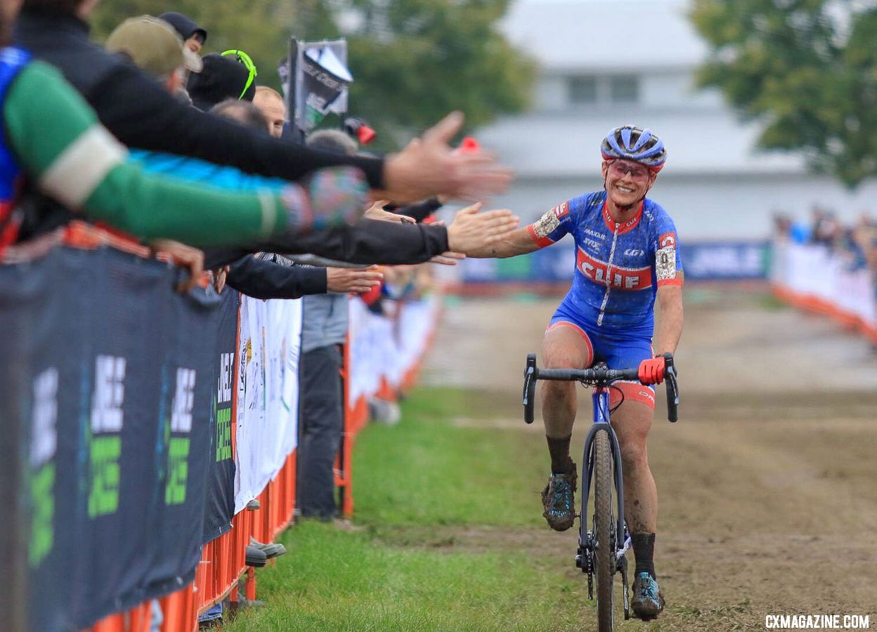 Katerina Nash is one of several international riders who live and race in the U.S. 2018 Jingle Cross Day 3. © D. Mable / Cyclocross Magazine