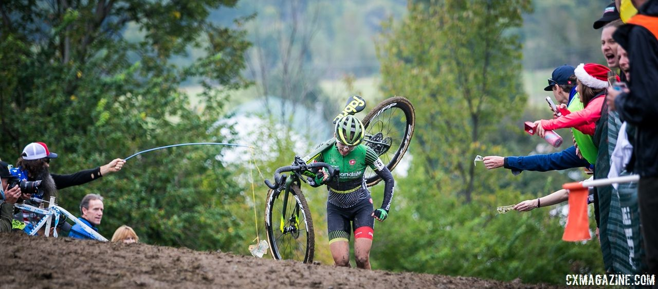 Keough won in the mud at Jingle Cross, so she was a late favorite when conditions in Louisville turned ugly. 2018 Jingle Cross Day 3, Sunday. © J. Corcoran / Cyclocross Magazine