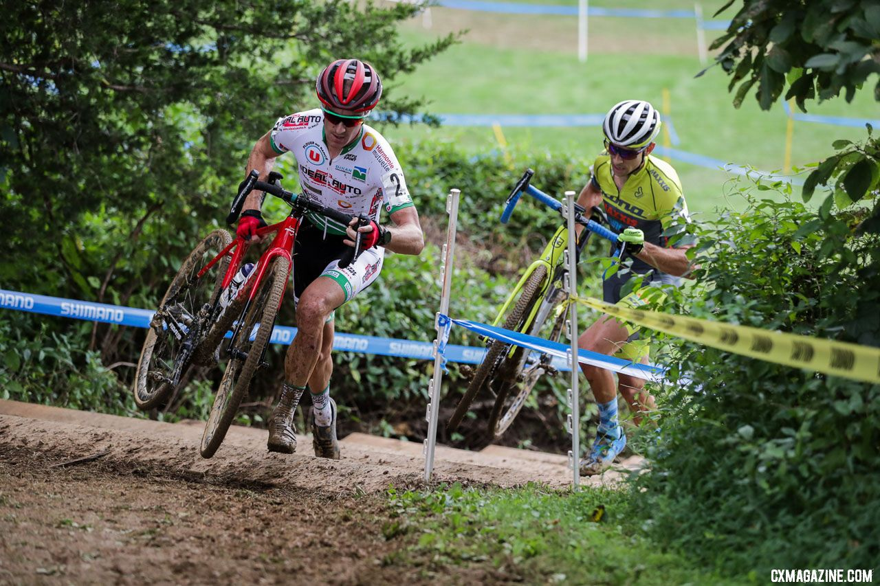 Boulo and Werner led the race. 2018 Nittany Lion Cyclocross Day 1. © Bruce Buckley