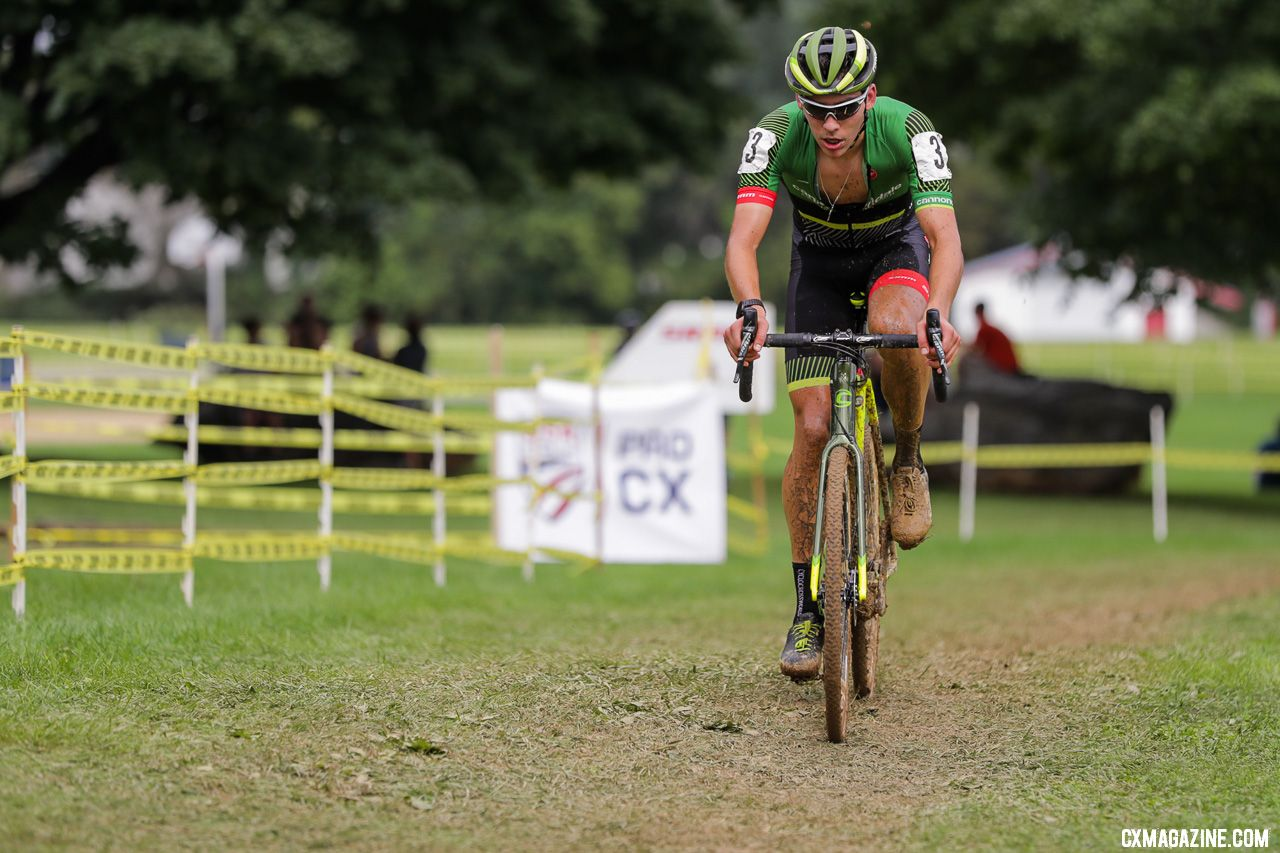 Curtis White made his cyclocross debut. 2018 Nittany Lion Cyclocross Day 1. © Bruce Buckley
