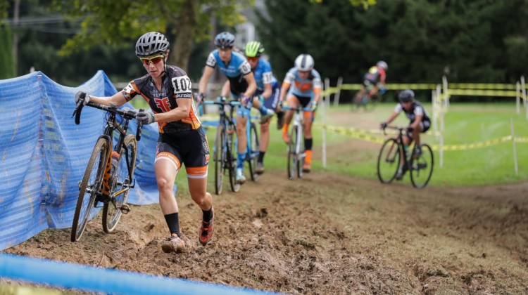 Kemmerer pushed the pace early. 2018 Nittany Lion Cyclocross Day 1. © Bruce Buckley