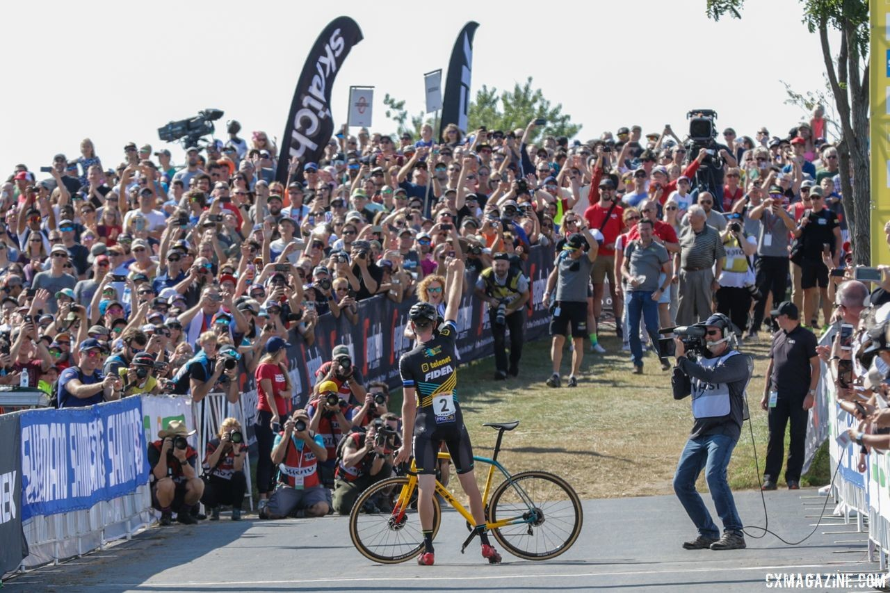 Aerts took home a big win at World Cup Waterloo. 2018 World Cup Waterloo. © R. Clark / Cyclocross Magazine