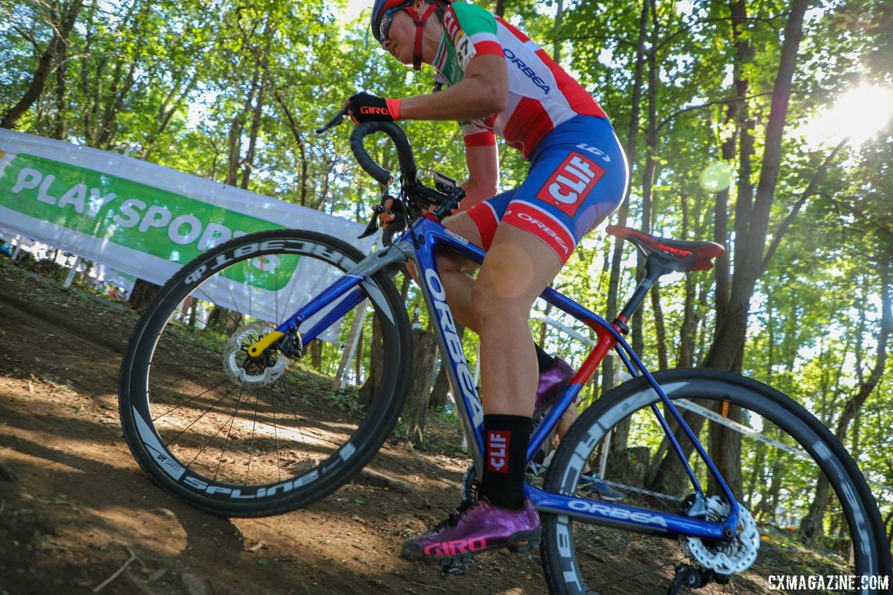 Eva Lechner jumped right into cyclocross after mountain bike season. 2018 World Cup Waterloo. © R. Clark / Cyclocross Magazine