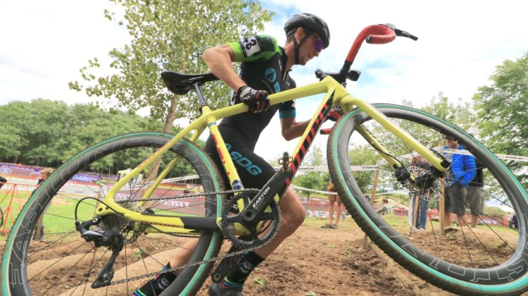 Drew Dillman had an impressive ride, finishing 11th. 2018 Trek CX Cup, Waterloo © Cyclocross Magazine / D. Mable