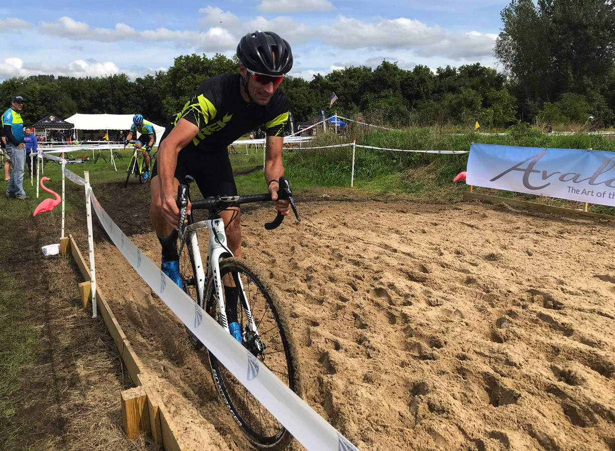 The Avalon Pontoons Beach and Yacht Club sand pit was one of the features on the course. 2018 Alma GP in Michigan. photo:  Brian Hancock
