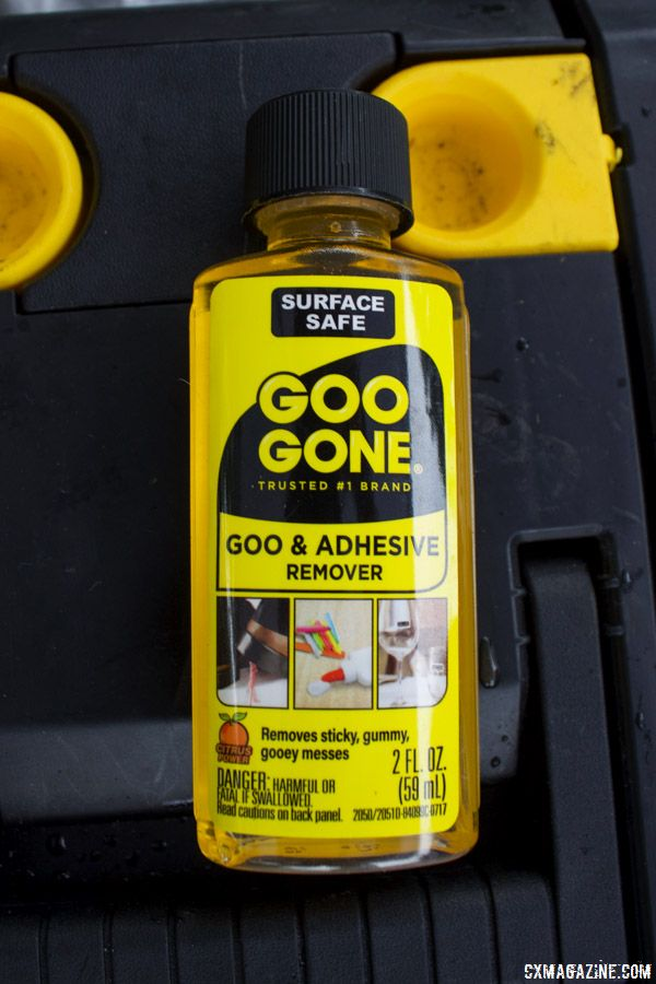 Goo Gone helps get rid of sticky stuff that sticks around on your bike. Dollar Store Mechanical Monday © B. Grant / Cyclocross Magazine