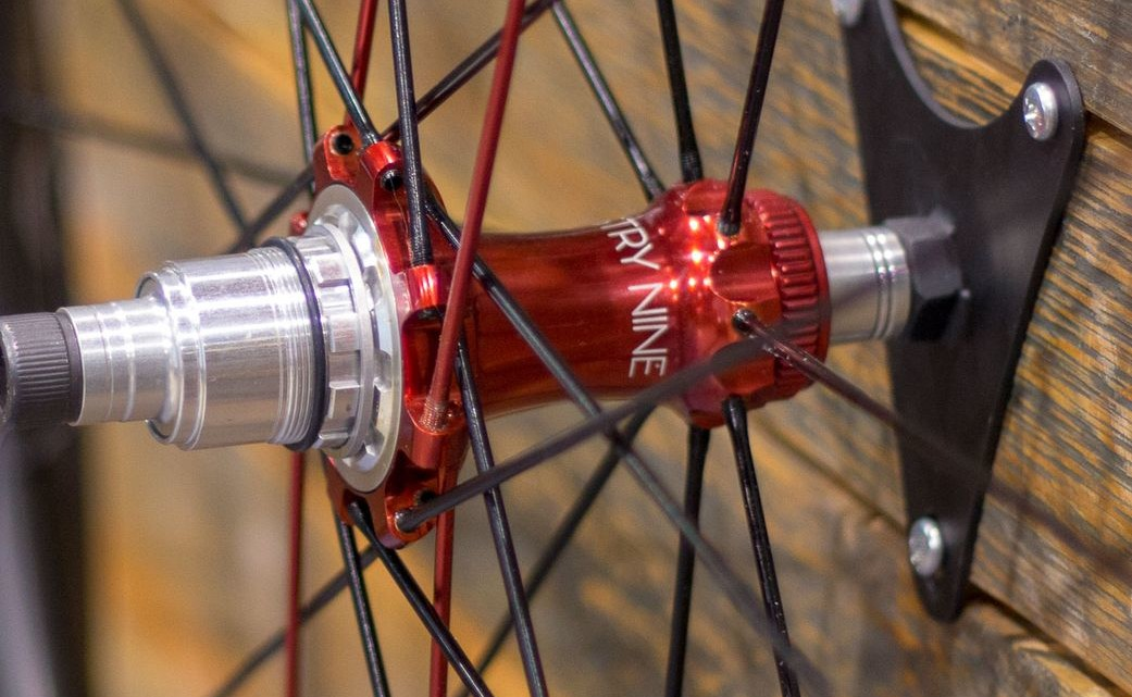 TRA hubs are designed for straight-pull spokes that thread into the hub. 2018 Interbike. © Eric Takayama / Cyclocross Magazine