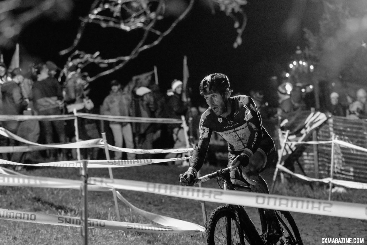 Alois Falenta honored his bib number with a third-place finish. 2018 Jingle Cross Day 1 Men. © D. Mable/ Cyclocross Magazine