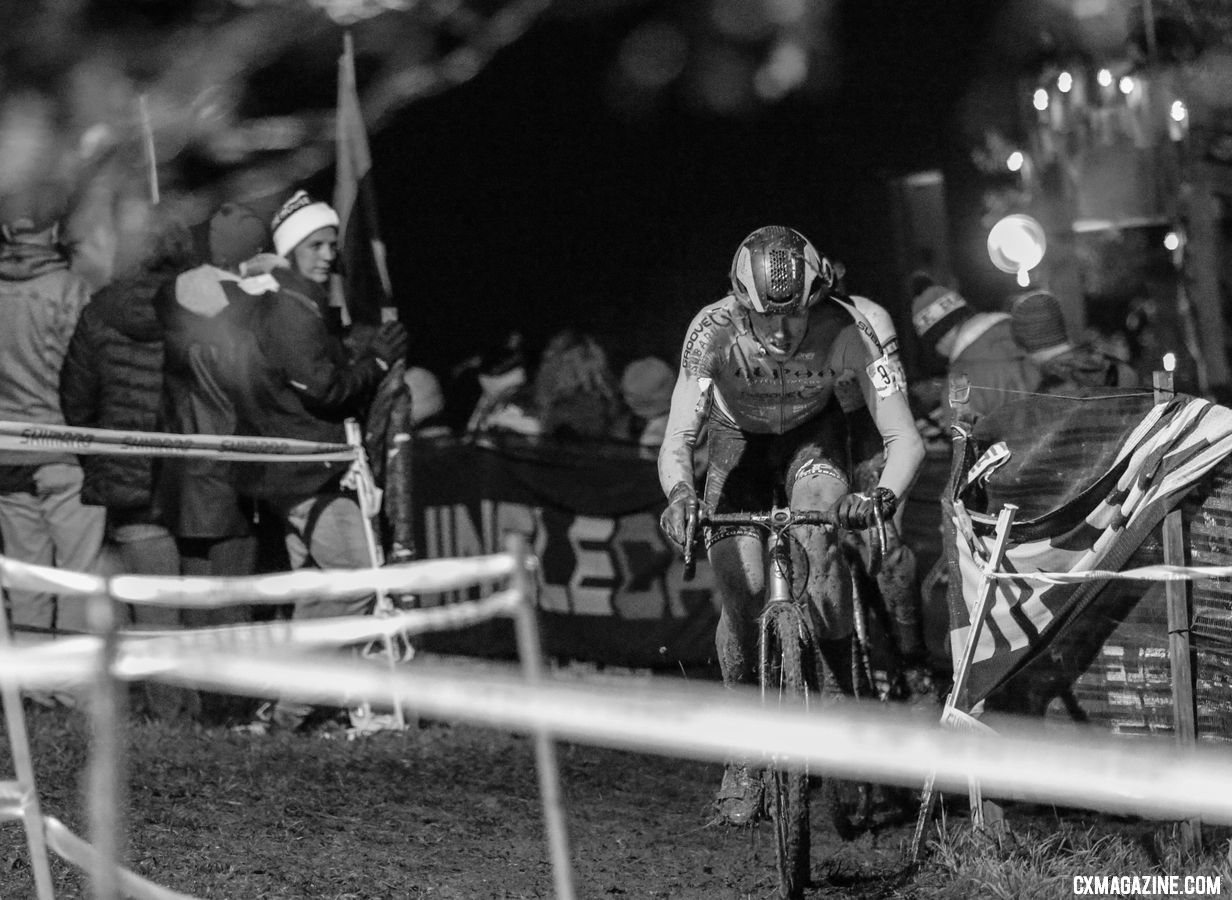 Brannan Fix finished in 7th. 2018 Jingle Cross Day 1 Men. © D. Mable/ Cyclocross Magazine