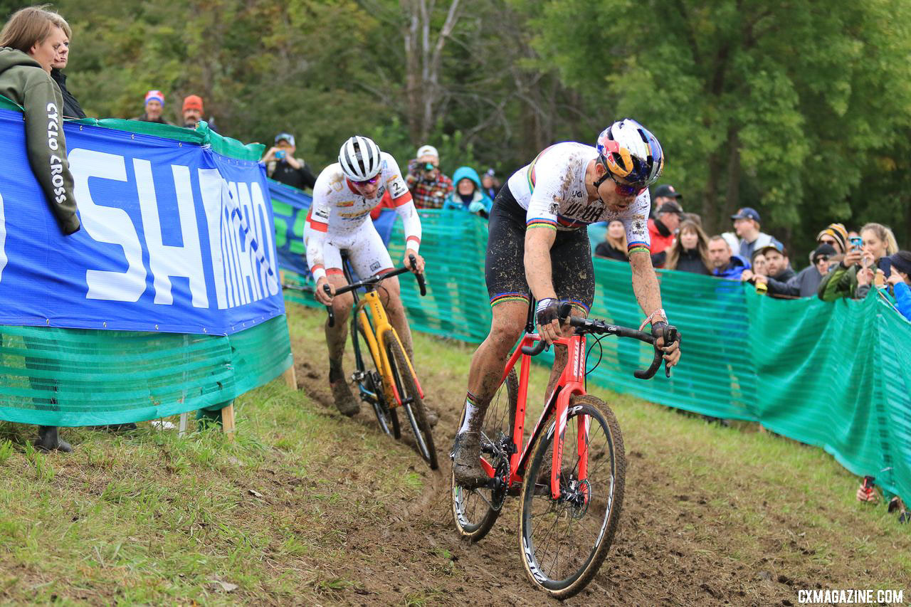 It's Van Aert against Aerts for the World Cup overall ... and Tim Merlier's spot for Worlds. 2018 Jingle Cross World Cup Men's Race. © D. Mable / Cyclocross Magazine