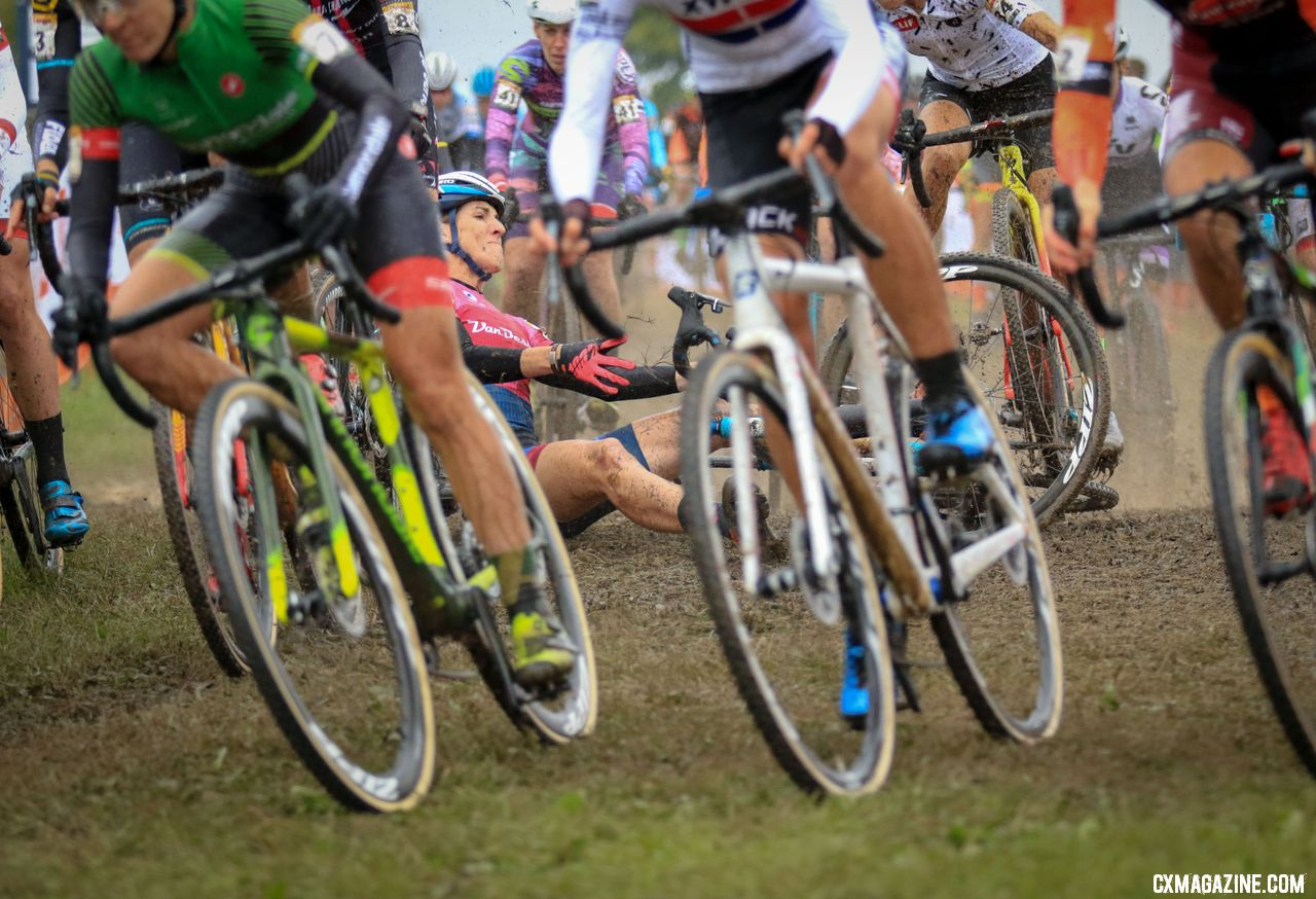Sunny Gilbert had a rough start to the 2018 Jingle Cross World Cup but bounced back. © D. Mable / Cyclocross Magazine
