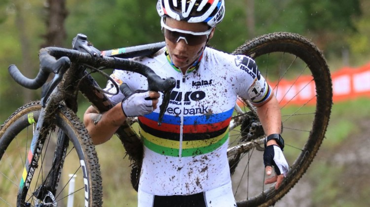 Sanne Cant roared back late to finish fifth. 2018 Jingle Cross World Cup. © D. Mable / Cyclocross Magazine