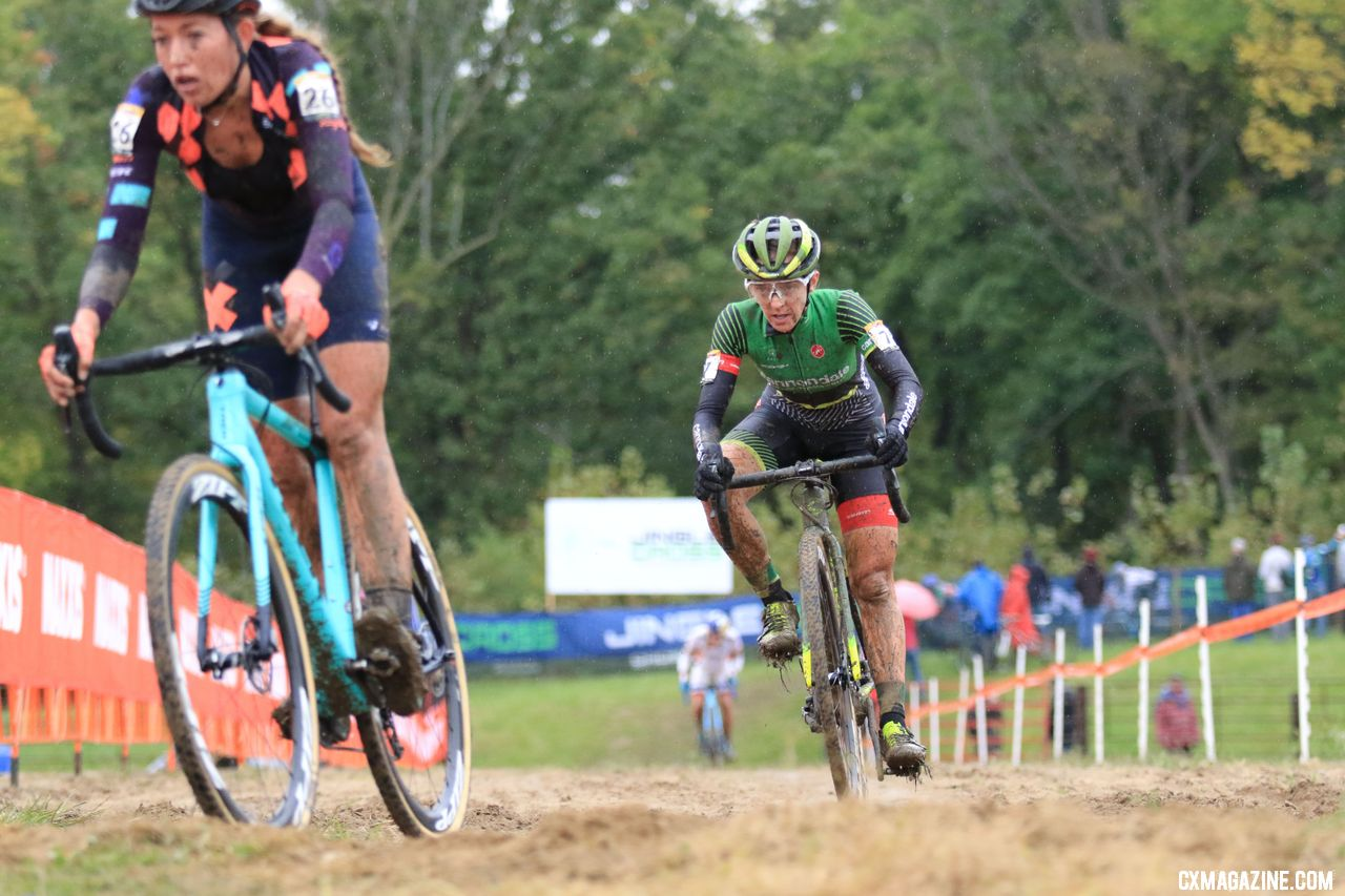 Kaitie Keough had a big second lap surge to take the lead. 2018 Jingle Cross World Cup. © D. Mable / Cyclocross Magazine