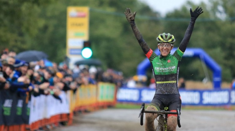 Kaitie Keough wins 2018 Jingle Cross World Cup. © D. Mable / Cyclocross Magazine