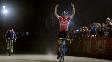 Lance Haidet wins the 2018 Reno Cross. © Cyclocross Magazine