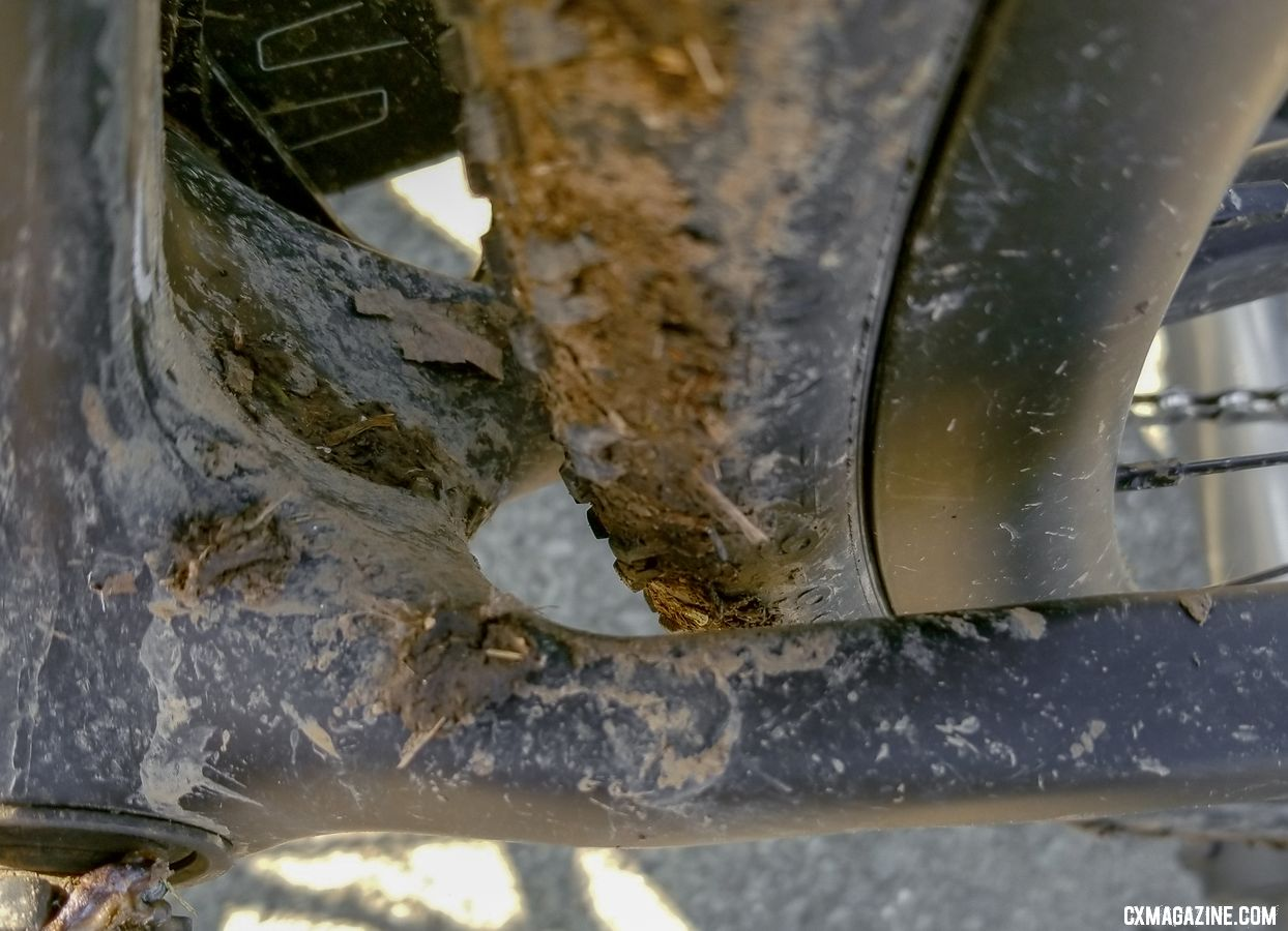 For comparison, this is the Open Cycles U.P.P.E.R. after a ride in the same conditions. © Cyclocross Magazine