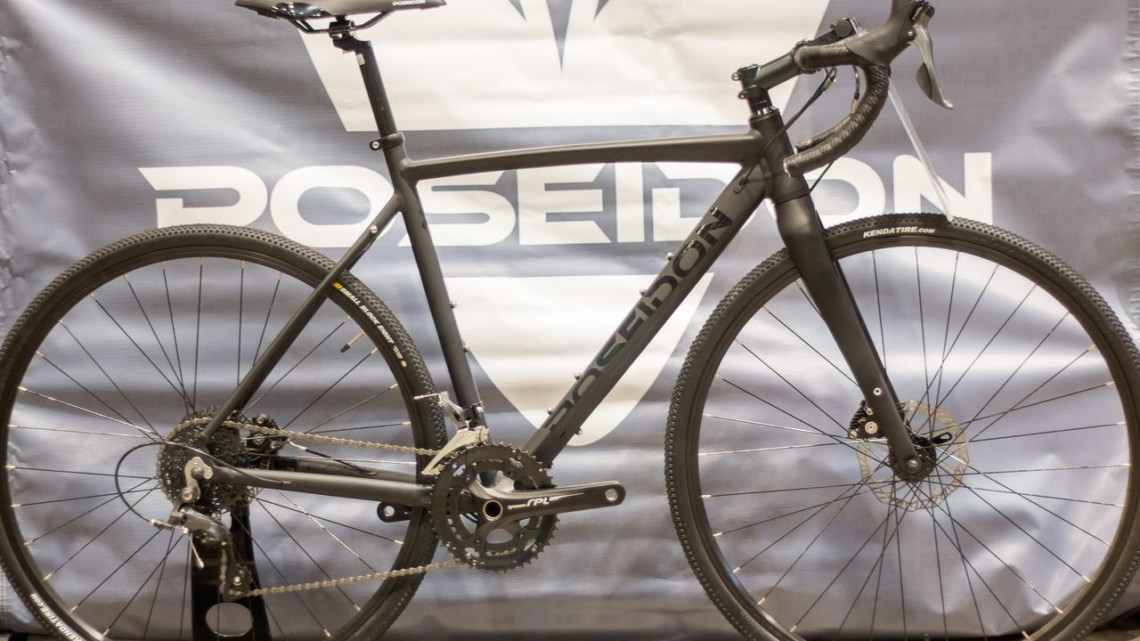 At $599 retail, the Poseidon X might be the perfect starter cross or gravel bike for anyone who doesn't want to make a major investment out the gate. 2018 Interbike. © E. Takayama / Cyclocross Magazine
