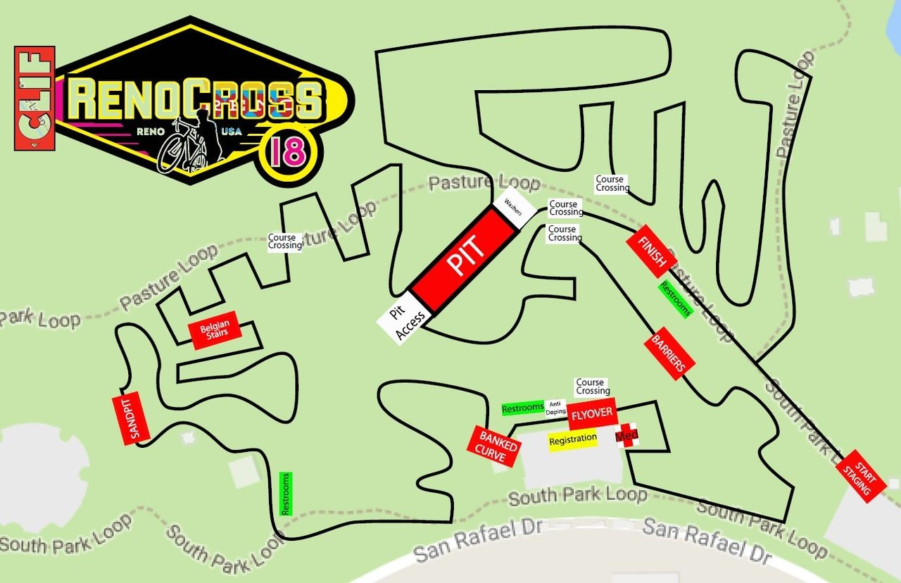 2018 RenoCross course map