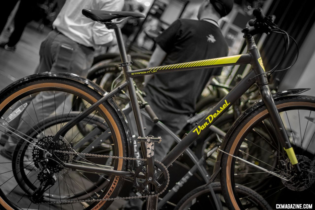 "The new sub $1k Van Dessel ""urban gravel"" Straight Up 650b bike. 2018 Interbike. © Cyclocross Magazine"