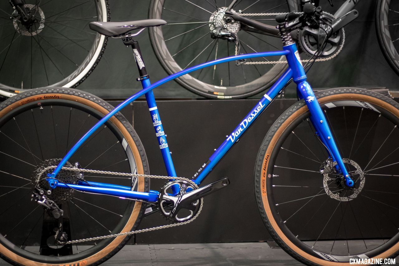 The steel WTF gets a new blue fade for 2019. 2018 Interbike. © Cyclocross Magazine