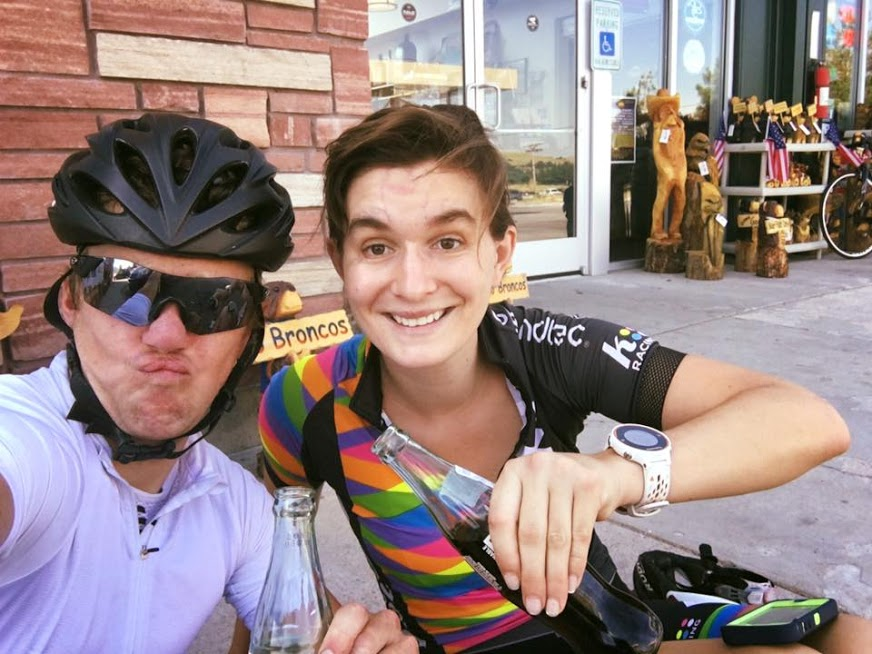 An ice cream and Coke ride with Timmy Duggan helped get De Crescenzo back on the bike after her crash. photo: courtesy