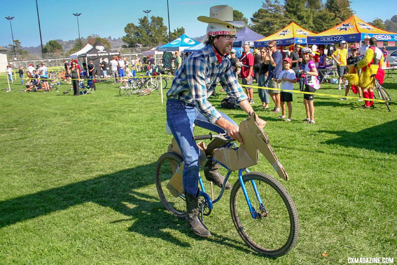 Got your costume ready? You can be sure Scotty Chapin is ready for this costume rodeo. © Cyclocross Magazine
