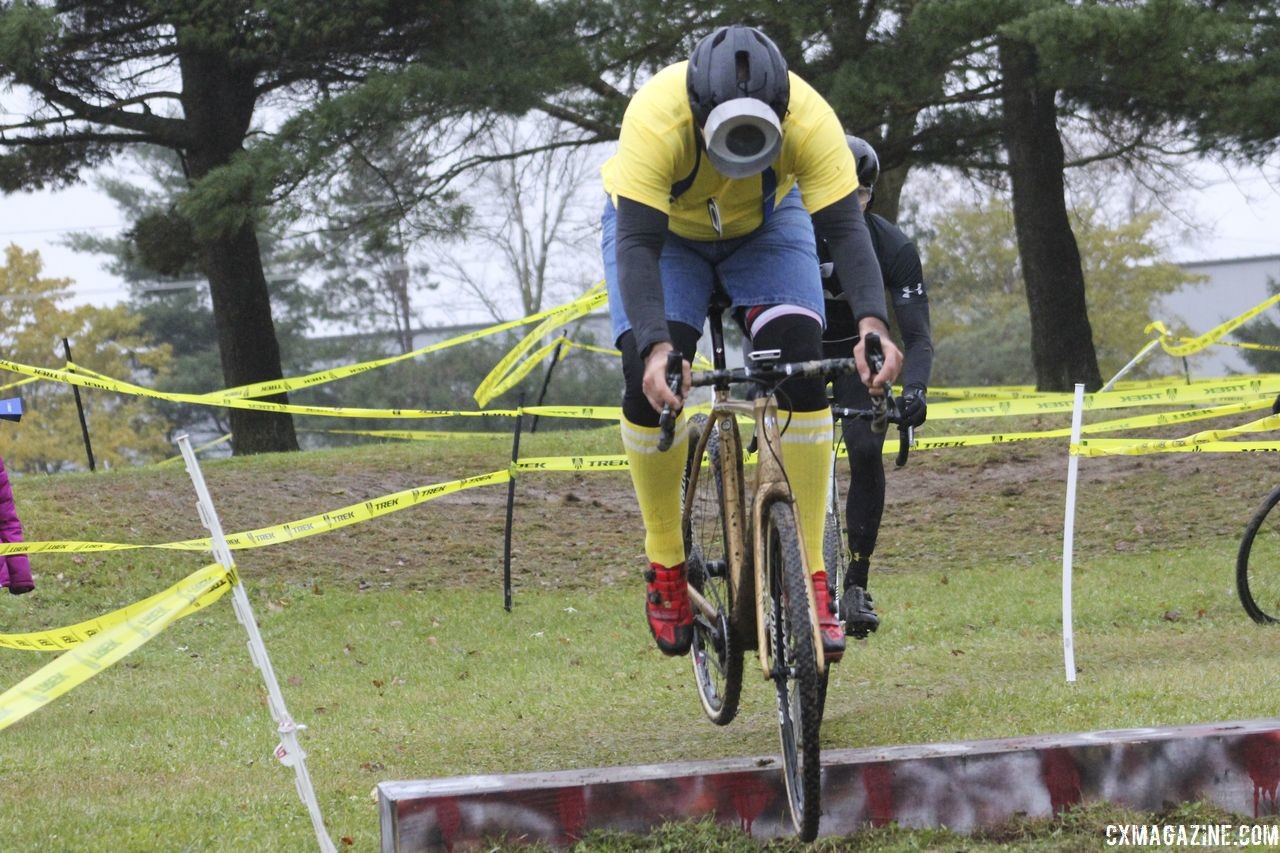Work your way up to hopping the coffin, or whatever the obstacle might be. 2018 Cross Fire, Sun Prairie, Wisconsin. © Z. Schuster / Cyclocross Magazine