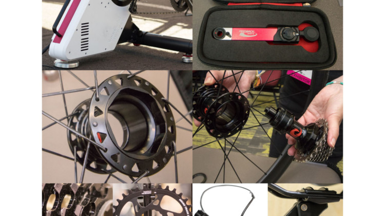 New igadgets from Interbike: Feedback Sports, Minoura, Two Point Zero, Leonardi Factory, Redshift Sports, Prestacycle