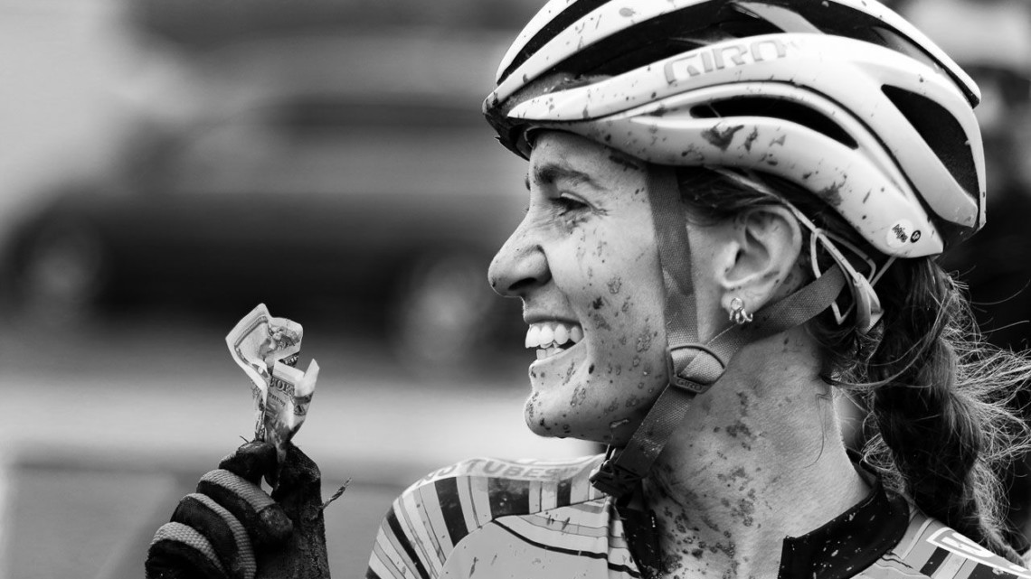 Sofia Gomez Villafane took home some extra money on Sunday. 2018 Jingle Cross, Day 3. © D. Mable / Cyclocross Magazine