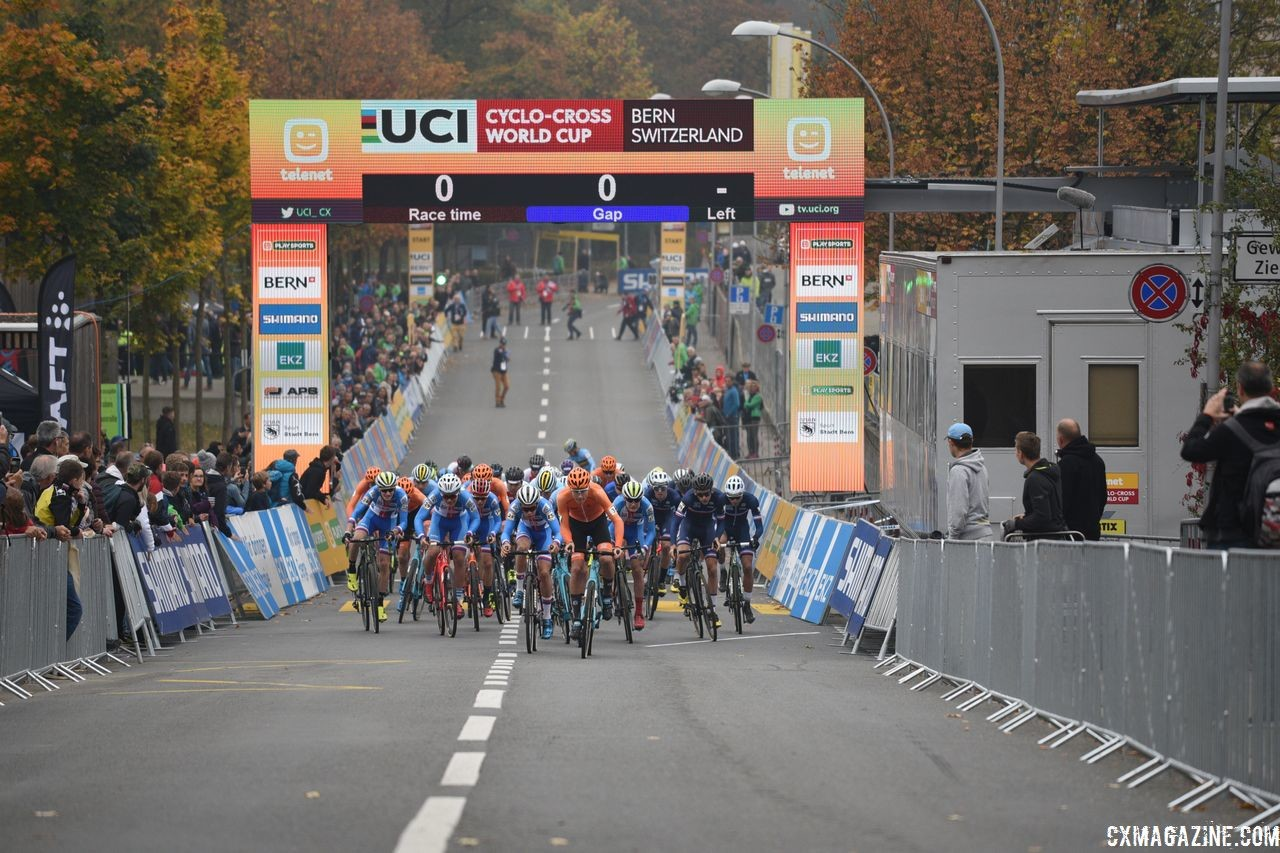 World Cup Bern did not apply to host a race in 2020/21. 2018 World Cup Bern, Switzerland. © E. Haumesser / Cyclocross Magazine
