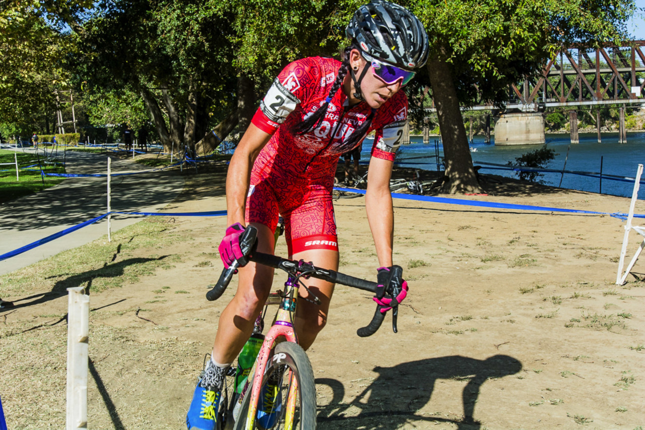 Sammi Runnels had another strong afternoon. 2018 West Sacramento Cyclocross Grand Prix Day 2. © L. Lamoureux